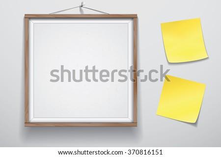 mock up for presentation framed