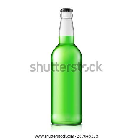 mock up glass clean bottle