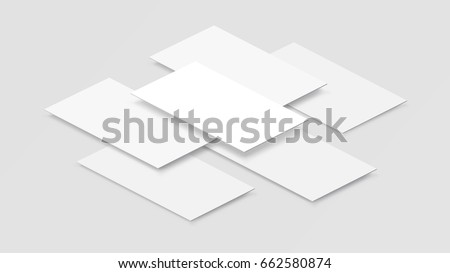 Mock up mobile app interface in 3D perspective view. Blank app screen. Horizontal aspect ratio in white color tone created by vector easy to use for user interface and user experience design.