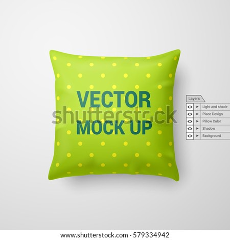 mock up of a pillow in lime