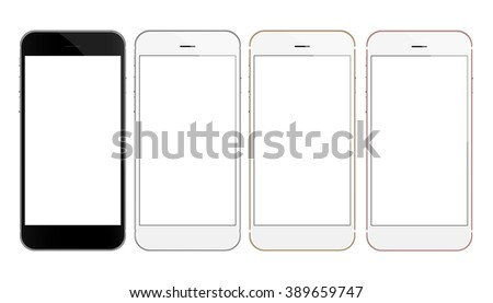 mock up phone vector design