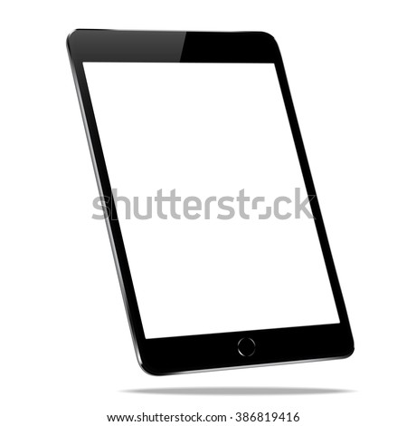 mockup black tablet similar to ipades isolated on white vector design