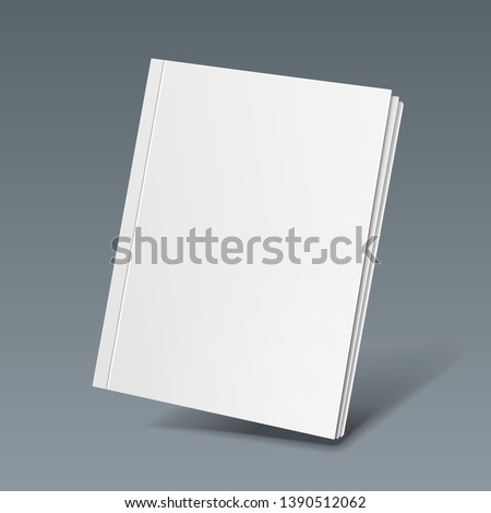 Mockup Blank Cover Of Magazine, Book, Booklet, Brochure. Illustration. Background. Mock Up Template Ready For Your Design. Vector EPS10