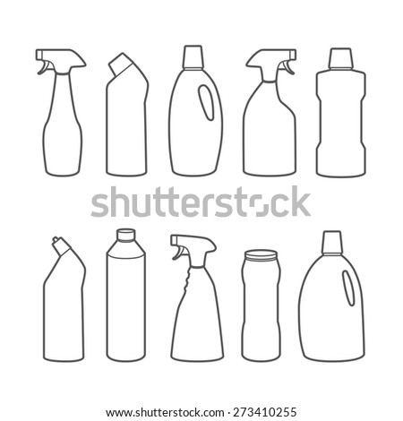 mockup detergents and