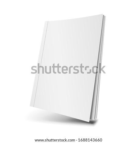 Mockup Magazine Cover, Book, Booklet, Brochure. Illustration Isolated On White Background. Mock Up Template Ready For Your Design. Vector EPS10