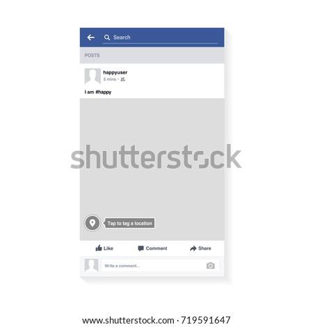 mockup of social network photo
