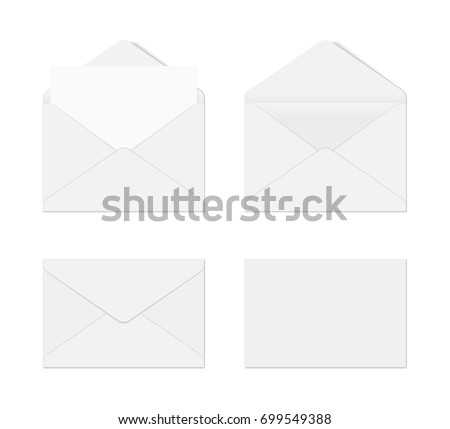Mockup realistic envelopes. vector illustration on white background.