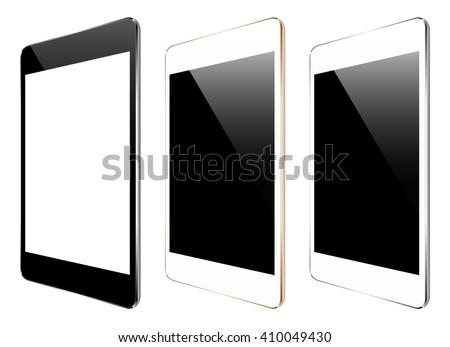 mockup tablet isolated on white vector design