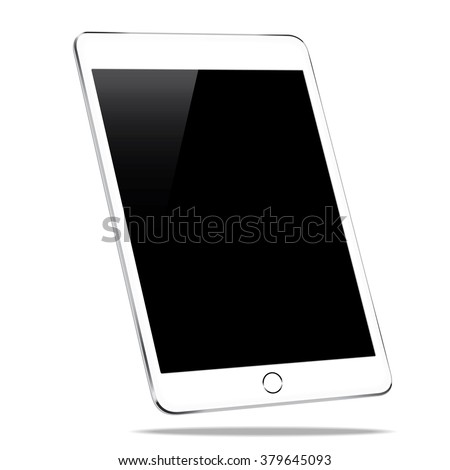 mockup tablet similar to ipad air isolated on white background