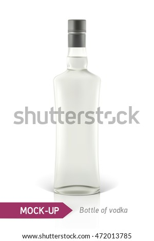 mockup vodka bottle