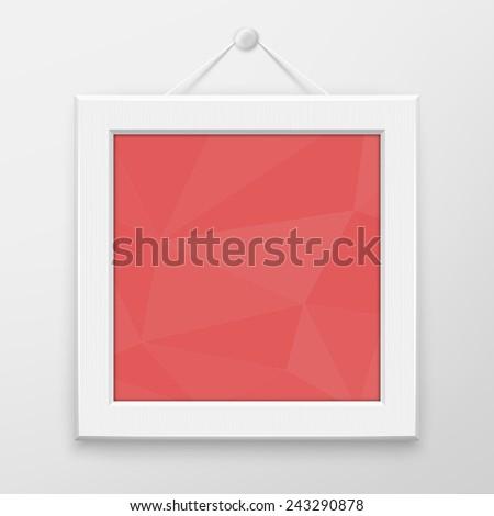 mockup white frame for photo or