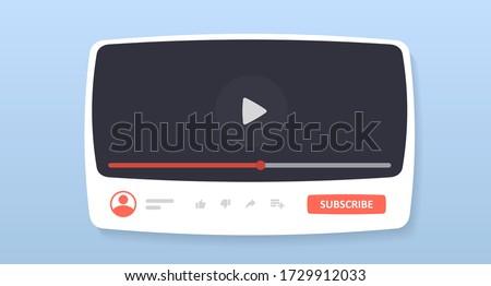 mockup youtube interface window
