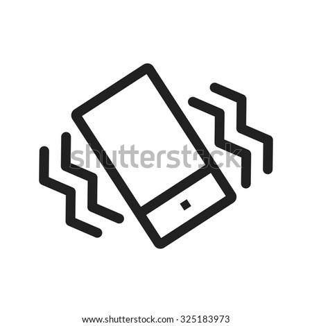 mode  mobile  vibrate icon
