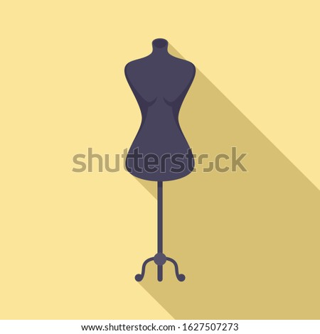 Model mannequin icon. Flat illustration of model mannequin vector icon for web design