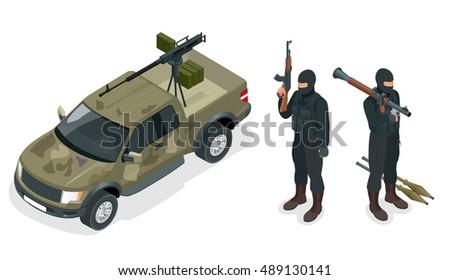 model of pickup truck armed