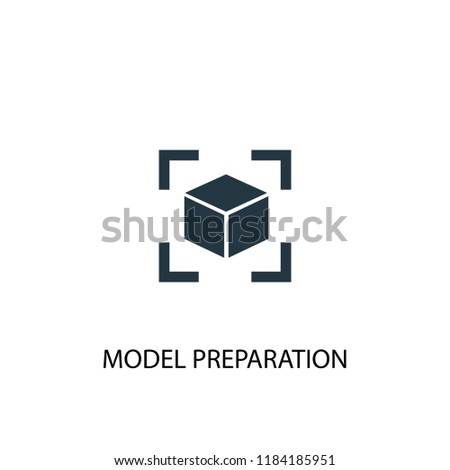 model preparation icon. Simple element illustration. model preparation concept symbol design. Can be used for web and mobile.