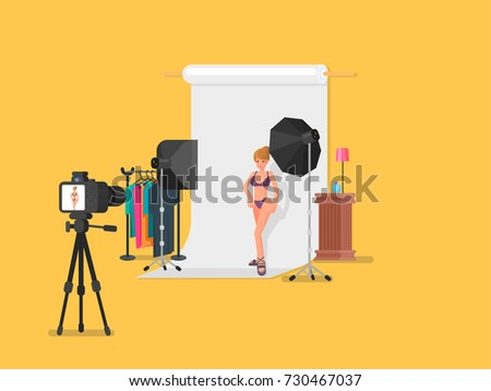 Model Shoot vector illustration