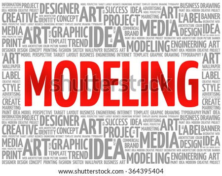 modeling word cloud  creative