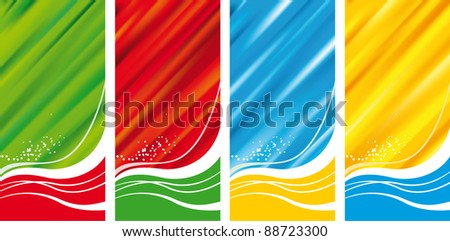 Modern Abstract Banner Set