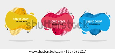 Modern abstract banner set. Flat geometric liquid form with various colors. Modern banner template. Template for the design of a logo, flyer of presentation.
