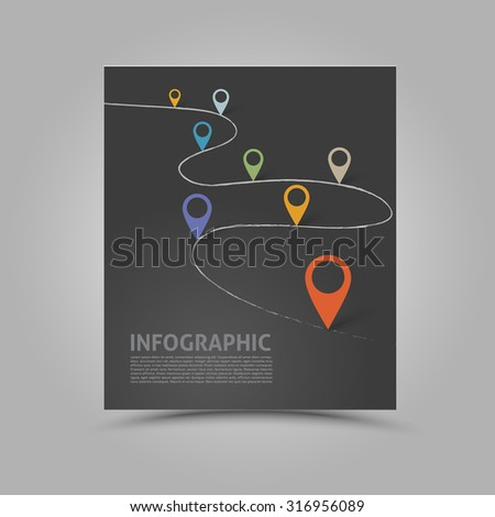 Modern abstract book template  #316956089