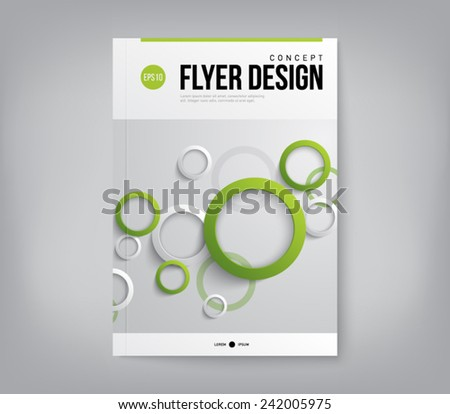 Modern abstract brochure, flyer, report design, layout template. Clean style cover, cummunication, business. corporate
