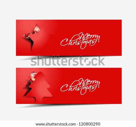Modern abstract christmas banner, header, eps10 vector illustration