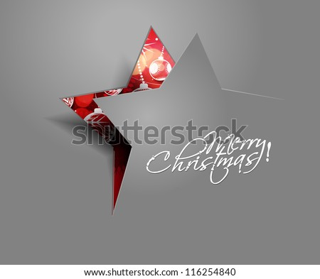 Modern abstract christmas star background, eps10 vector illustration