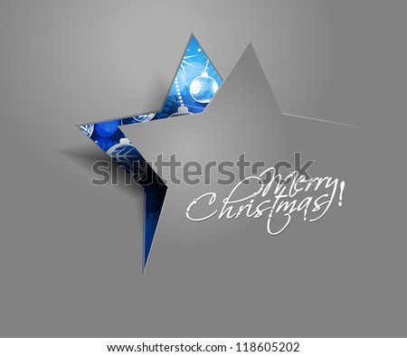 Modern abstract christmas star background, eps10 vector illustration