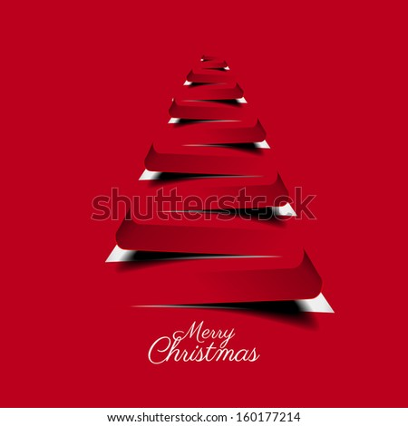 Modern abstract christmas tree background - vector illustration