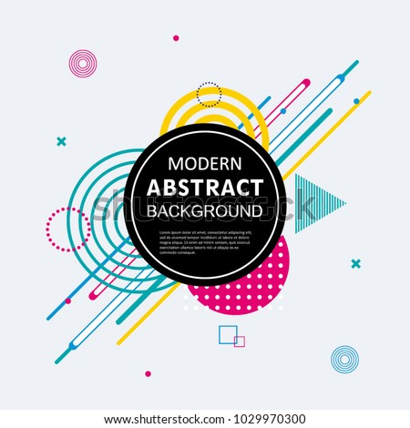Modern abstract circle colorful geometric pattern design and background. Use for modern design, cover, poster, template, brochure, flyer. #1029970300