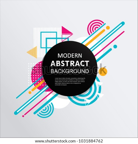 Modern abstract circle geometric design, pattern, round badge and background for modern design, decorated, flyer, cover and template. EPS 10 Vector