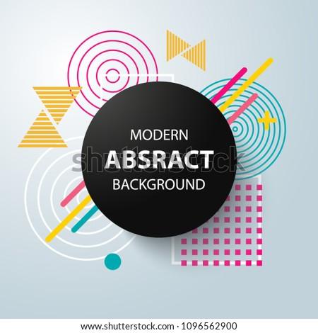 Modern abstract circle geometric pattern background, modern design. Vector. #1096562900