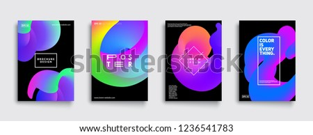 Modern abstract covers set. Cool gradient shapes composition. Futuristic design. Eps10 vector. #1236541783