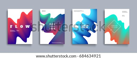 Modern abstract covers set. Cool gradient shapes composition. Futuristic design. Eps10 vector. #684634921