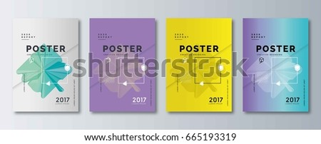 Modern abstract covers set. Cool gradient shapes composition. Minimal Vector cover designs. Future Poster templates. Eps10 vector.