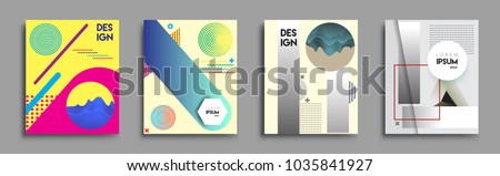 Modern abstract covers set. Cool gradient shapes composition, vector covers design. #1035841927