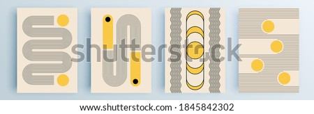 Modern abstract covers set, minimal covers design. Colorful geometric background, vector illustration. Foto d'archivio ©
