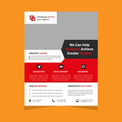 Modern abstract creative corporate Business promotional post flyer template design with vector graphic elements in A4 size.Poster, pamphlet and cover layout in ai.Minimal Brochure layout