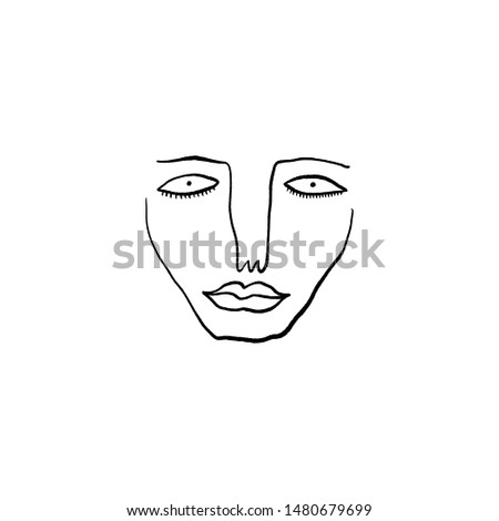 modern abstract face portrait