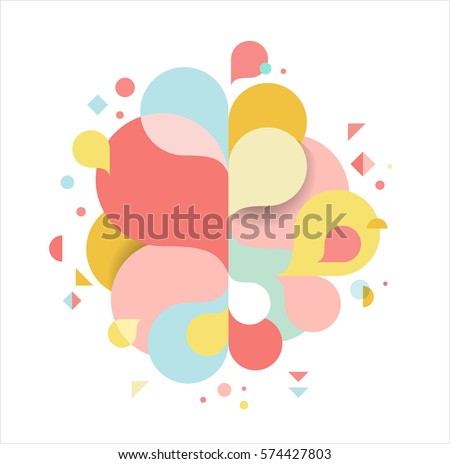 Shutterstock Modern abstract feminine background with splash colors, pink and gold, greeting card, poster