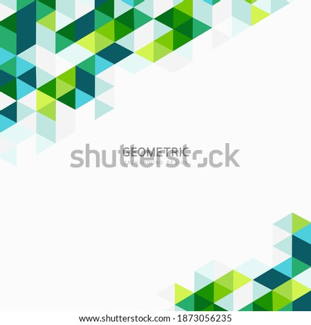 Modern Abstract geometric background, green polygon overlapping triangles, Unusual color shapes for your message. Business or tech presentation, app cover template, illustration design.