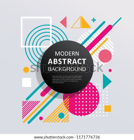 Modern abstract geometry background design for poster, flyer card and banner. EPS 10 Vector. #1171776736