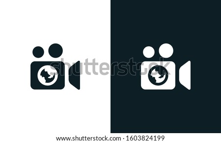 Modern abstract Global Studio logo. This logo icon incorporate with Globe and world icon in the creative way.
