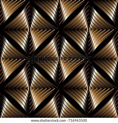 modern abstract gold striped