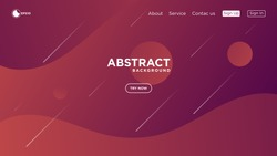Modern abstract gradient wavy geometric background. Very useable for landing page, website, banner, poster, event, etc.