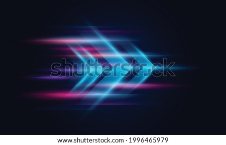Modern abstract high-speed movement. Colorful dynamic motion on blue background. Movement technology pattern for banner or poster design background concept.