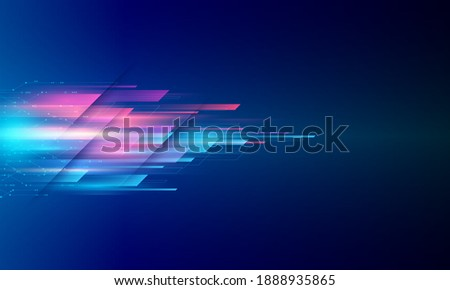Modern abstract high speed movement. Colourful dynamic motion on blue background. Movement sport pattern for banner or poster design background concept.