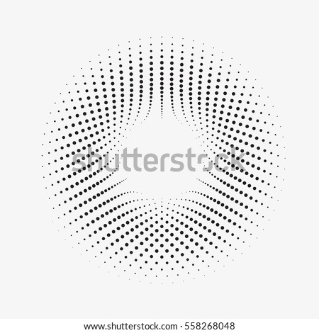 stock-vector-modern-abstract-illustration-made-of-small-particles-monochrome-background-with-halftone-circles