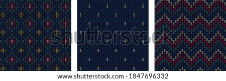 Modern abstract line geo motif pattern fabric design stylish background. Simplicity concept embroidery all over print block for apparel textile, ladies dress, man shirt, fashion garment, package, wrap Foto stock ©